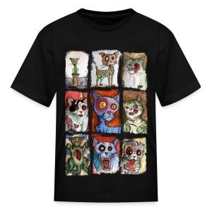 kids 9 zombie cats - Kids' T-Shirt