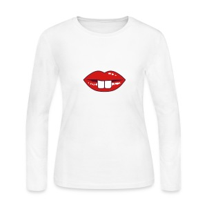 Buck teeth and red lips Long Sleeve Shirts - Women's Long Sleeve Jersey T-Shirt
