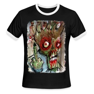 mens zombie finger - Men's Ringer T-Shirt