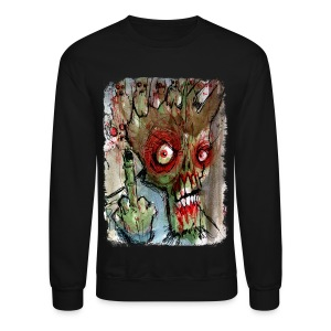 mens zombie finger - Crewneck Sweatshirt