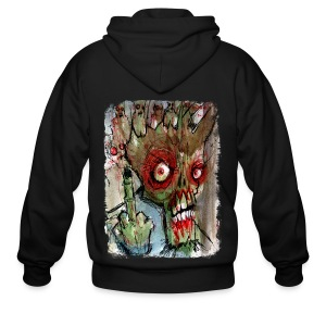 mens zombie finger - Men's Zip Hoodie