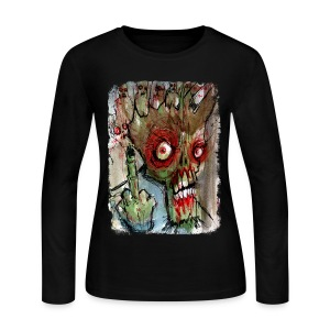 womens zombie finger - Women's Long Sleeve Jersey T-Shirt