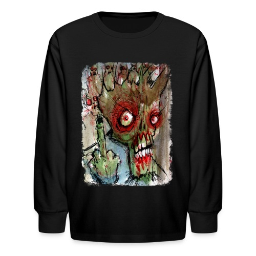 kids zombie finger - Kids' Long Sleeve T-Shirt