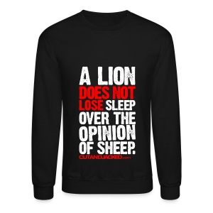 A lion does not lose sleep | Mens jumper (wht pr) - Crewneck Sweatshirt