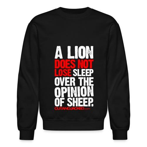 A lion does not lose sleep   Mens jumper (wht pr) - Crewneck Sweatshirt