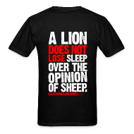T-Shirts ~ Men's T-Shirt ~ A lion does not lose sleep | Mens Tee (wht pr) back print