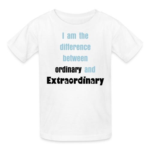 I am the difference between ordinary and extraordinary - Kids' T-Shirt