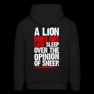 Hoodies ~ Men's Hoodie ~ A lion does not lose sleep | Mens hoodie