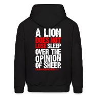 Hoodies ~ Men's Hoodie ~ A lion does not lose sleep | Mens hoodie