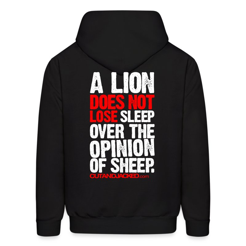 A lion does not lose sleep | Mens hoodie - Men's Hoodie