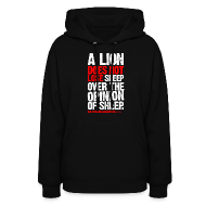 Hoodies ~ Women's Hoodie ~ A lion does not lose sleep | Womens hoodie