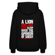 Hoodies ~ Women's Hoodie ~ A lion does not lose sleep | Womens hoodie (back print)