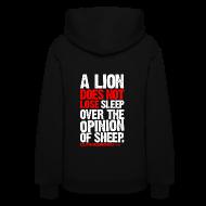 Hoodies ~ Women's Hoodie ~ A lion does not lose sleep | Womens hoodie (back print)