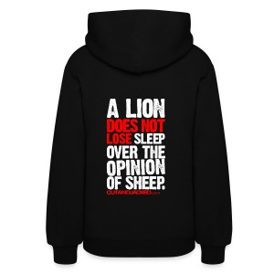 A lion does not lose sleep | Womens hoodie (back print) - Women's Hoodie