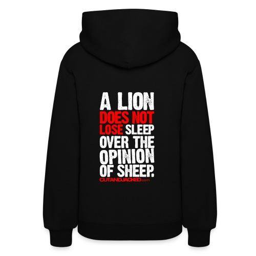 A lion does not lose sleep | Womens hoodie (back print) - Women's Hoodie