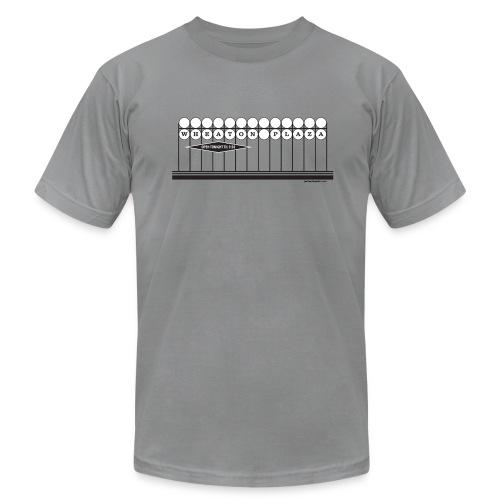 Wheaton Plaza American Apparel T (grey) - Men's Fine Jersey T-Shirt