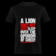 T-Shirts ~ Men's T-Shirt ~ A lion does not lose sleep | Mens Tee (wht pr)