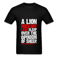 T-Shirts ~ Men's T-Shirt ~ A lion does not lose sleep | Mens Tee (wht pr)