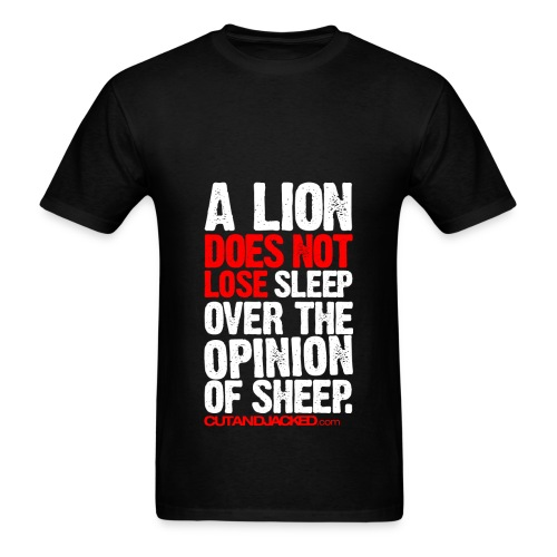 A lion does not lose sleep | Mens Tee (wht pr) - Men's T-Shirt