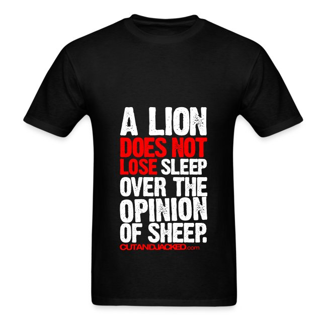 A lion does not lose sleep | Mens Tee (wht pr)