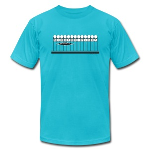 Wheaton Plaza American Apparel T (turquoise) - Men's T-Shirt by American Apparel