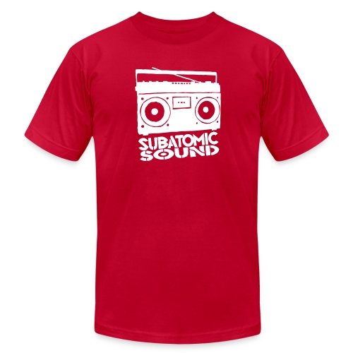 Subatomic Sound Boombox - Men's T-Shirt by American Apparel