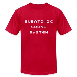 Subatomic Sound System bitcrusher - Men's T-Shirt by American Apparel