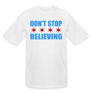 Don't Stop Believing Flag - Men's Tall T-Shirt