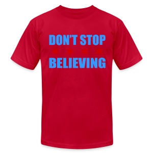 Don't Stop Believing Flag - Men's T-Shirt by American Apparel