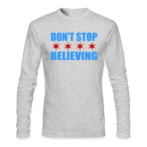 Don't Stop Believing Flag - Men's Long Sleeve T-Shirt by Next Level