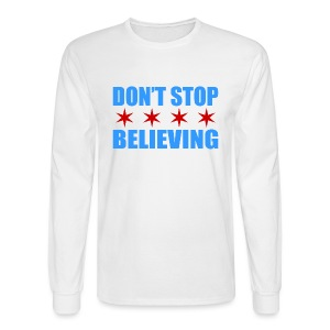 Don't Stop Believing Flag - Men's Long Sleeve T-Shirt