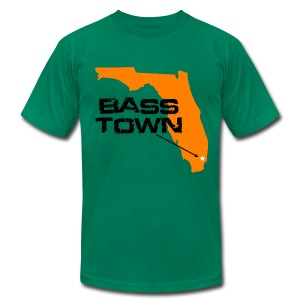 Bass Town (Green) - Men's T-Shirt by American Apparel