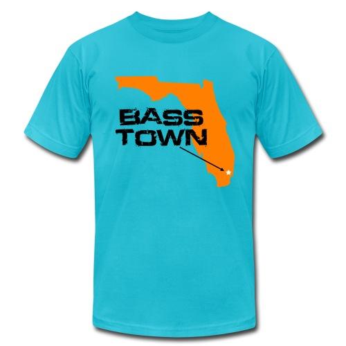 Bass Town (Turquoise) - Men's Fine Jersey T-Shirt