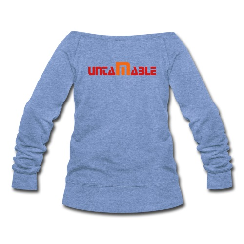 untamable womens wideneck shirt - Women's Wideneck Sweatshirt