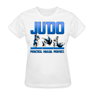 Judo Throw Design Female T- Shirt Practice Makes Perfect - Women's T-Shirt