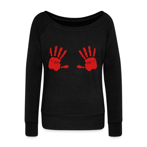 Bloody Hands - Women's Wideneck Sweatshirt