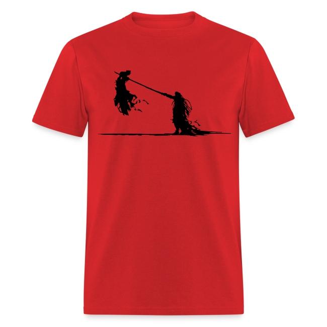 Cloud Vs. Sephiroph (Black) Men's Standard Weight T-Shirt
