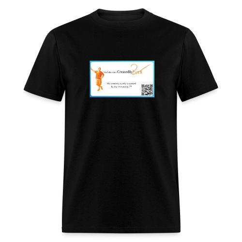 CreatedByBrett black tee (with URL on back) - Men's T-Shirt
