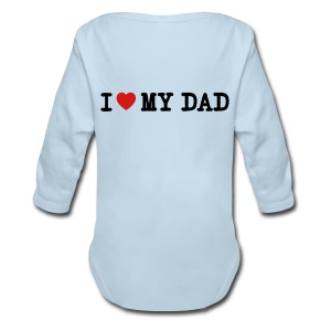 daddys little bad ass - Long Sleeve Baby Bodysuit
