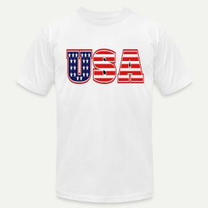 USA#1 - Men's T-Shirt by American Apparel