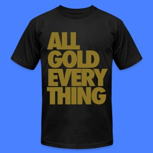 All Gold Everything T-Shirts - Men's T-Shirt by American Apparel
