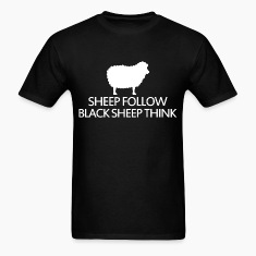 sheep follow black sheep think