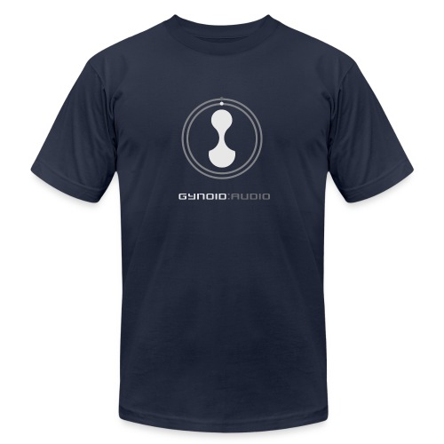 Gynoid Audio - Label T-Shirt (Navy) with Gynoid Audio text in small print on the back - Men's  Jersey T-Shirt