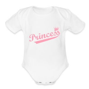 Baby Princess - Short Sleeve Baby Bodysuit