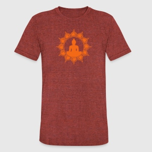 Meditation - buddha lotus - symbol enlightenment T-Shirts - Unisex Tri-Blend T-Shirt by American Apparel