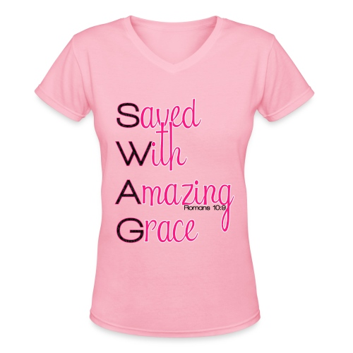 SWAG TEE - Women's V-Neck T-Shirt