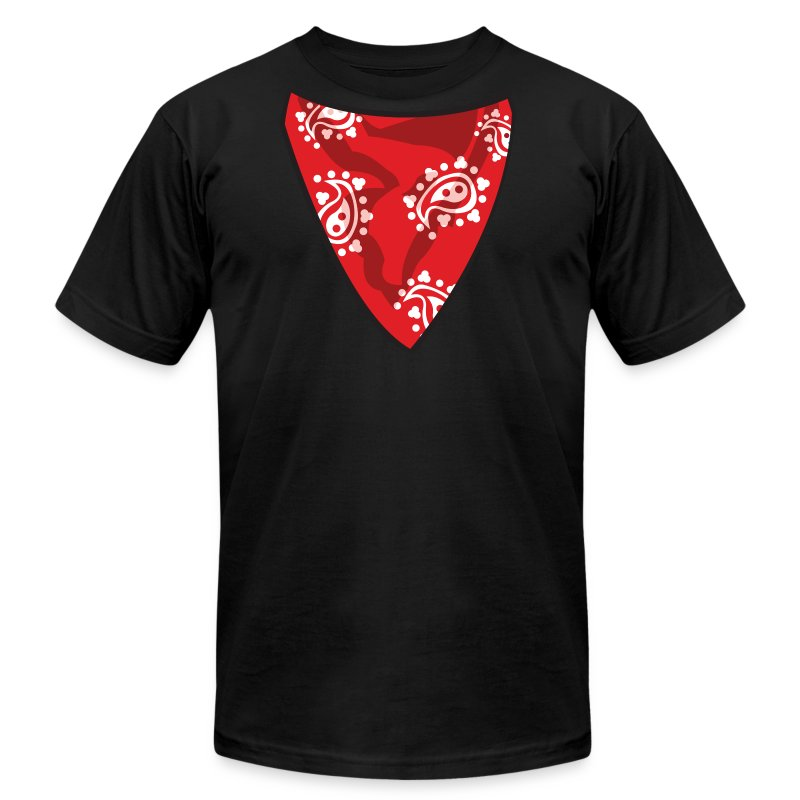 red bandana t shirt spreadshirt. Black Bedroom Furniture Sets. Home Design Ideas