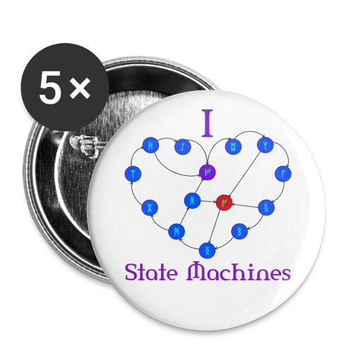 I Heart State Machines Buttons - Large Buttons