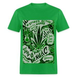 Green StonerNation by @dankraven420 - Men's T-Shirt