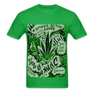 Green StonerNation by @dankraven420 - Men's T-Shirt